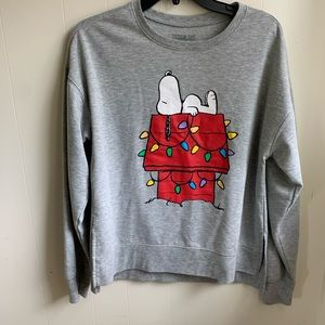 Peanuts Snoopy Christmas Graphic Sweater Doghouse
